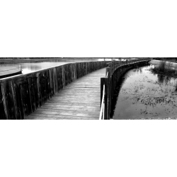 BLACK AND WHITE PICTURES | PHOTO WOODEN BRIDGE